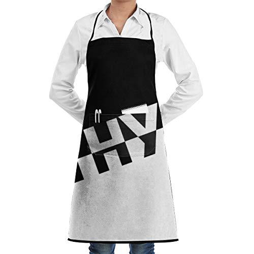 YF150 Naruto Neji Hyuga Unisex Chef Adjustable Polyester Full Aprons Bib with Pockets
