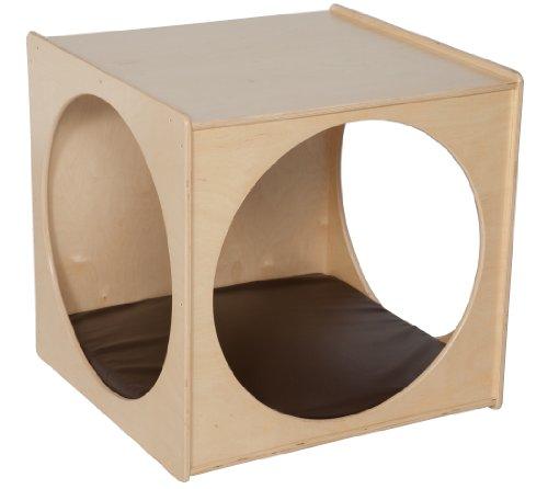 Natural Environments C29029BN Giant Crawl Thru Play Cube (Imagination Cube) w/Brown Cushion by Wood Designs