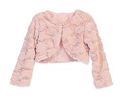 Faux Fur Long Sleeve Bolero Jacket Shrug - Blush Cloud 6