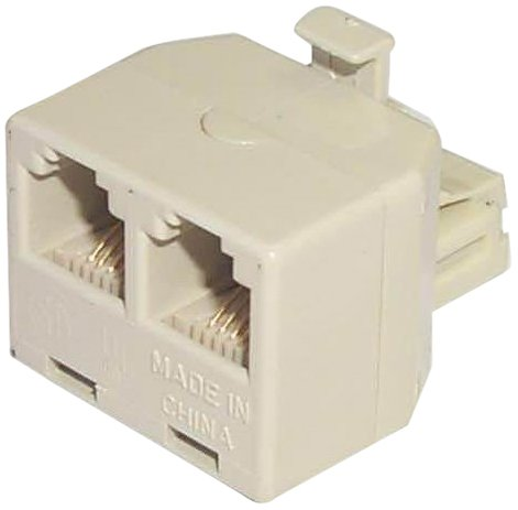 Black Point Products BT-011 Modular Duplex Jack Adapter, Ivory