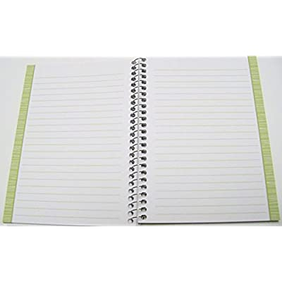 Garden Style Spiral Notebook ~ Multicolored Leaf Patterns and Multicolor Border (5