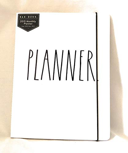 Rae Dunn Planner 2019 Monthly Planner Calendar (17 Months Aug 2018 - Dec 2019)