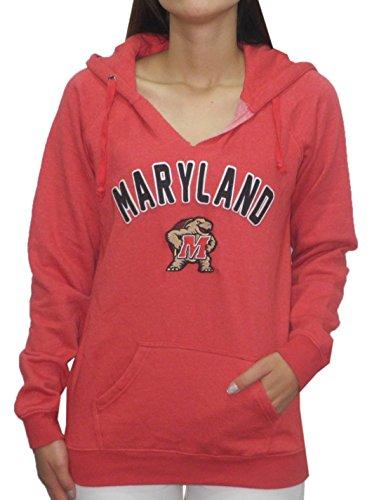 NCAA Womens Maryland Terrapins Athletic Pullover Hoodie / Sweatshirt XS Red
