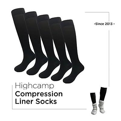 5PK Womens Compression Liner Socks for Winter Thermal Socks & Travel Pregnancy Nursing Size 4-11