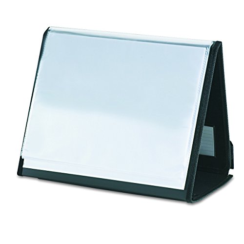 Cardinal 52132 ShowFile Horizontal Display Easel, 20 Letter-Size Sleeves, Black by Cardinal