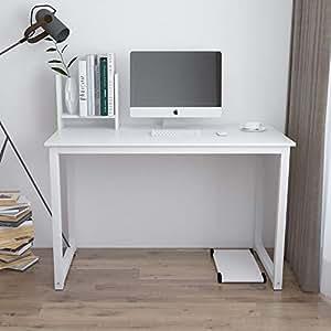 Amazon.com: Ansley&HosHo Mesa de escritorio grande con forma ...