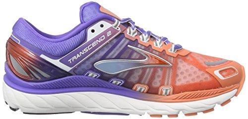 Brooks Transcend 2, Chaussures de course femme, Orange - Orange (FreshSalmon/BlueIris/Silver), EU 38 - US 7