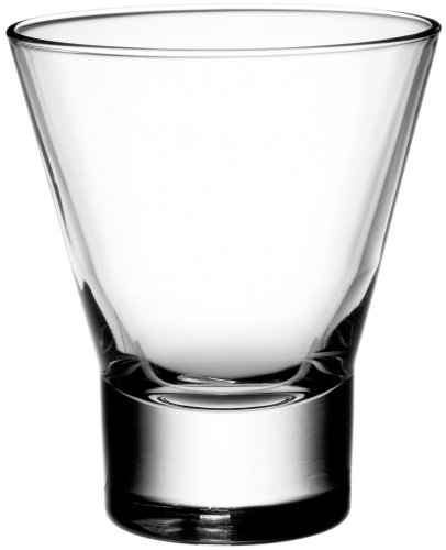 Bormioli Rocco Party Tumbler Double Old Fashioned Glasses, Set of 4, Gift Boxed