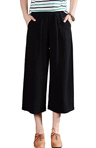 Linen Blend Cropped Pants - 9