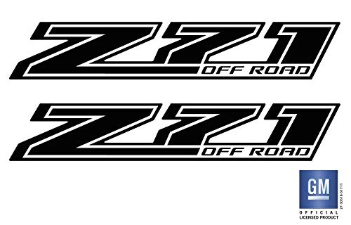 EmblemsPlus 2014 2015 2016 2017 Chevy Colorado Truck Z71 Off Road (Blackout) Bed Side Decals Stickers Set of (2) GM Official Licensed Product