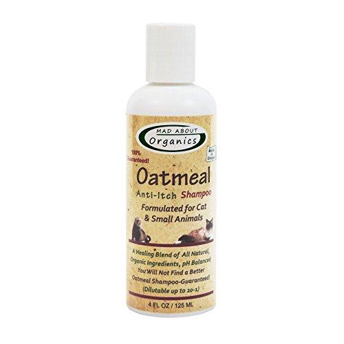 Ferret Dry Shampoo - Mad About Organics All Natural Cat/Small Animal Oatmeal Anti-Itch Shampoo 4oz