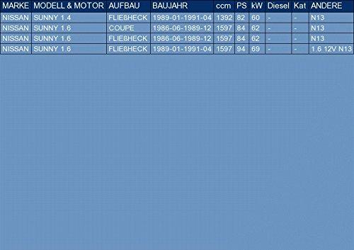 ETS-EXHAUST 51050 Endtopf Auspuff f/ür SUNNY 1.4 1.6 FLIE/ßHECK COUPE 82//84//94hp 1986-1991 Anbauteile