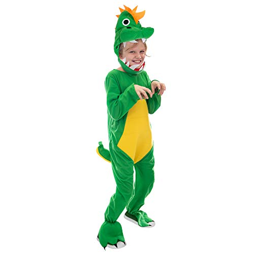 Jurassic Dinosaur Children's Halloween Costume | T-Rex Dino Suit for Kids, S -