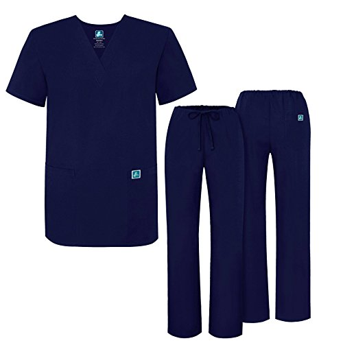 69be3745061 Adar Universal Medical Scrubs Set Medical Uniforms - Unisex Fit - 701 - NVY  -2X - Buy Online in Oman. | Apparel Products in Oman - See Prices, ...