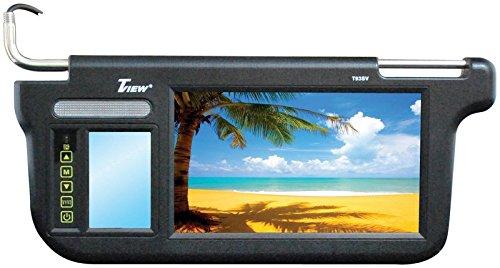 Tview T93SVBK Tivew 9'' Sunvisor Monitor driver and passenger side Black