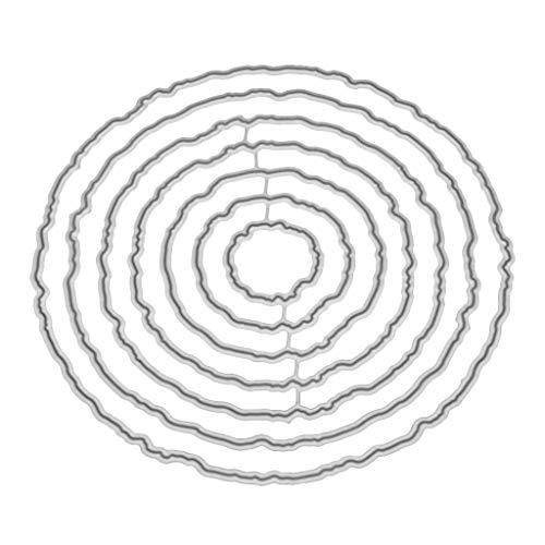 Cicitop Cutting Dies Circle Frame Metal Cutting Dies Stencil DIY Scrapbooking Album Stamp Paper Card Embossing Craft Decor