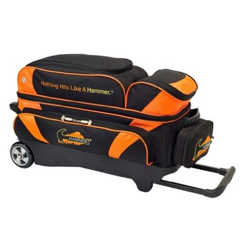 Hammer Premium 3 Ball Roller Bowling Bag- Black/Orange () (Hammer Ball Bowling Bag)