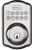 Keyless Entry Door Lock, Hutools Deadbolt Lock, Auto Lock Electronic Back Lit Keypad, 20 User Codes, 1 Touch Lock, 1 Time...