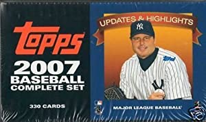 Each factory sealed set contains 330 cards including rookie cards of Chamberlain (NYY), Upton (AZ), Maybin (DET), Lincecum (SF), Pence (HOU), and Hughes (NYY).