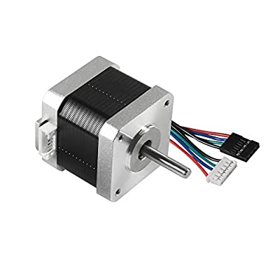 "MELIFE 3D Printer Motors, Nema 17 Stepper Motor 42-34 Motor 1.8 Stepper Angle 1.5A 2 Phase Body 4-Lead with 39.3"" Cable for 3D Printer Extruder Reprap Makerbot CNC Creality CR-10 10S Ender 3 Printer"