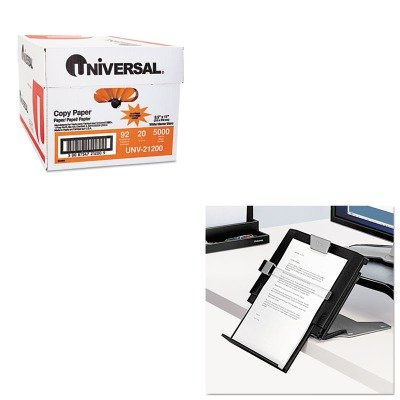 KITFEL8039401UNV21200 - Value Kit - Fellowes Professional Series Document Holder (FEL8039401) and Universal Copy Paper (UNV21200)