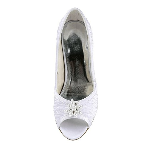 Blanc femme Fashion Chaussure fashion Kevin mariée de YTaqXX