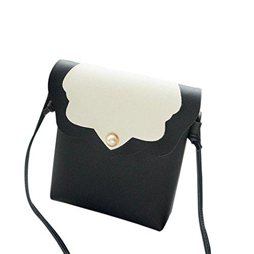 Pearl Cielo Borse blu Magnetico Gusspower Womens Copertura Borsa Messaggero Colore Moda Messenger Inarcamento Nero Puro Tracolla Bag 8nHBaTBq