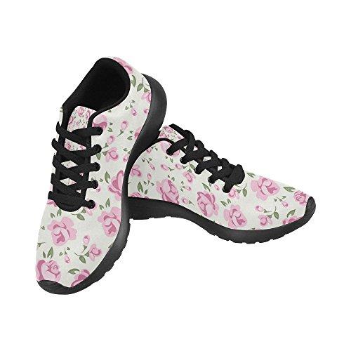 Interestprint Femmes Chaussures De Course De Jogging Sport Léger Marche  Chaussures De Sport Athlétiques Fleurs Roses