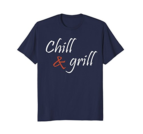 Mens Chill & Grill Barbecue Shirt - now on Sale! Large Navy