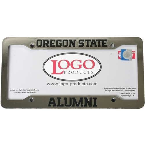 Products Plate Logo License - Logo Products Oregon State Beavers Alumni Chrome Plastic License Plate Frame