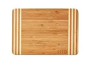 HTB Bamboo Cutting Board,Organic Kitchen Chopping Boards,For Bread,Cheese,Meat,Veggies,Bar board 02S