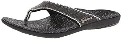 Spenco Mens Yumi Canvas Sandal Black Size: 7 US