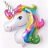 Rainbow Unicorn Shape Foil Balloon Air Mylar Ballons Event Party Wedding Decor