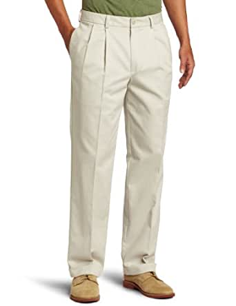 IZOD Men's Pleated Madison Pant, Warm Pearl, 29x30