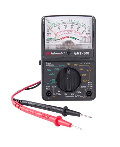 Gardner Bender GMT-318 Analog Multimeter, 6 Function, 14 Range, AC/DC Volt - Analog Electrical Circuit Multi Tester