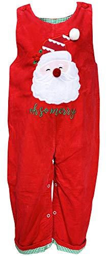 Baby Toddler Boys So Merry Christmas Santa Applique Corduroy Longall 2-3T