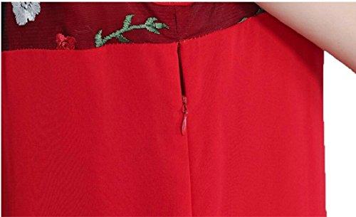 Jaycargogo Femmes Sans Manches D'une Ligne-robe De Midi + Cardigan En Maille Manteau Broderie 2 Pièce Set 1