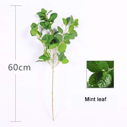 Hockus Decorations Olive Holly Chili Cherry Milan Mint Maple Leaf Chili Artificial Artificial Plastic Plant for Wedding Part Yoga Spring Decoration - (Color: Mint Leaf)