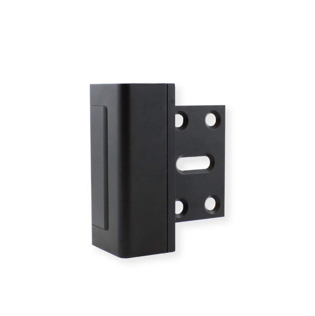 Hifive Door Reinforcement Lock, 3 in. Stop, Aluminum Construction, Black