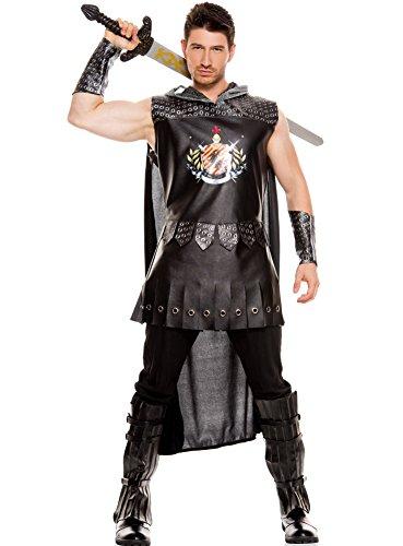 [MUSIC LEGS Men's Medieval Warrior King, Black, X-Large] (Warrior King Costume)