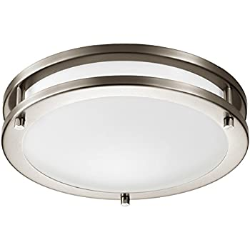 GetInLight LED Flush Mount Ceiling Light, 12 Inch, 15W(75W Equivalent)