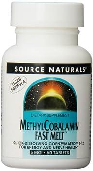 Source Naturals MethylCobalamin, Vitamin B-12, 60 Tab