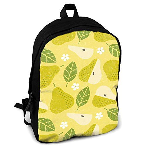 CZZD Pear Juicy Fruits Leaves and Flowers Travel Laptop Backpack Schoolbags Men and Women On Campus