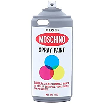 Moschino color graffiti spray paint bottle for Spray paint phone case