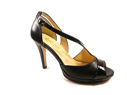 MONOGO 7204 - Sandalias de vestir de Piel para mujer * negro