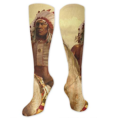 Native American Riding A White Horse Socks For Men & Women - Best For Running Athletic Pregnancy And Travel