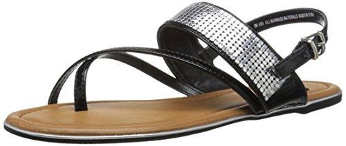 Madeline Open Toe Sandals - Madeline Women's ASA Sandal Flat, Black, 7.5 M US
