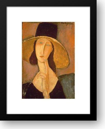 Head Of A Woman 15x18 Framed Art Print by Modigliani, Amedeo