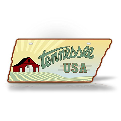 - Tennessee Farm License Plate Vintage State Shaped Replica Tennessee Antique Auto Tag