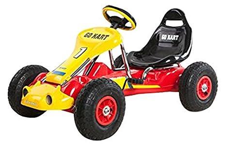 Ricco PB9788A - Kart Infantil con Ruedas de Goma, Rojo: Amazon.es: Juguetes y juegos